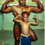 Father and Son working out