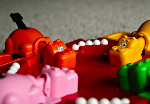 Hungry Hungry Hippos is loud, but fun!