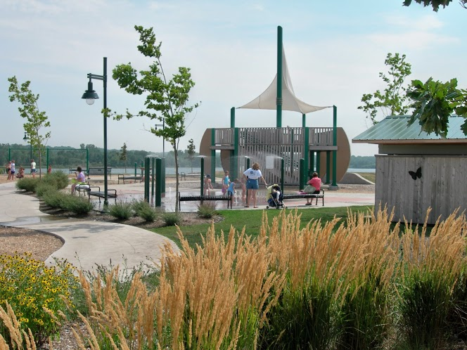 The center piece for the playground is a large sailing ship that overlooks Blue Heron Lake.