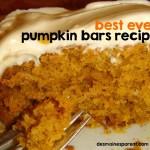 Pumpkin Bars Recipe – The Best Ever!