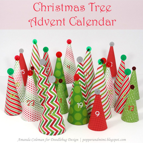 Christmas tree Advent calendar DB by Amanda Coleman