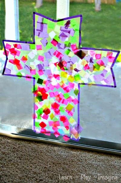 Cross Suncatcher Crafts For Kids