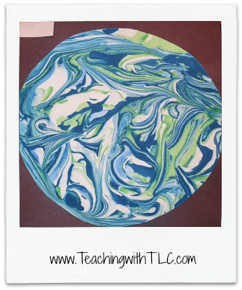 Earth Day shaving cream art- awesome!