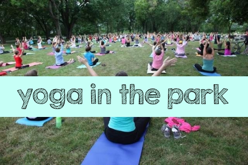 Need Some Stress Relief?  Try Yoga in the Park