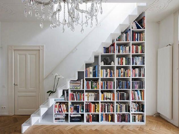 book stairs storage