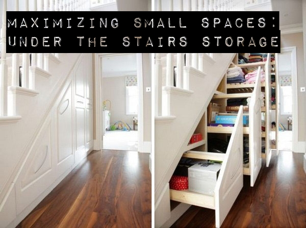 Maximizing Small Spaces – Under the Stairs Storage