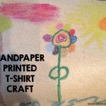 Sandpaper Printed T-Shirt Craft