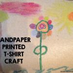 Sandpaper Printed T-Shirt Craft
