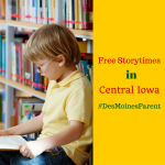 Free Storytime Events Around Central Iowa
