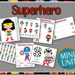 Super Hero and Frozen Preschool Fun at Home