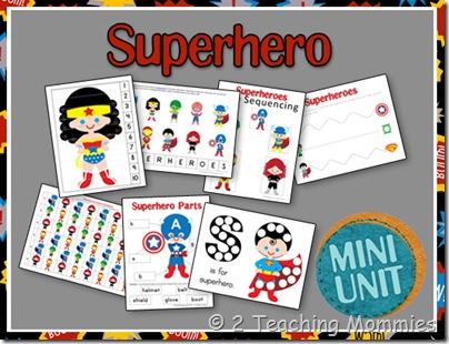 Super Hero and Frozen Preschool Fun at Home