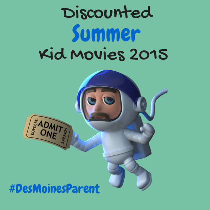 Discounted Summer Kid Movies 2015