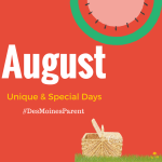August: Unique & Special Days to Remember!