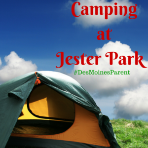 Camping at Jester Park