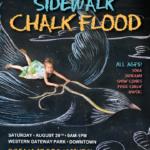 Sidewalk Chalk Flood 2015