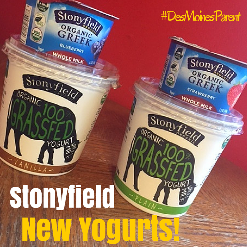 Stonyfield: Whole Milk Greek Yogurt + 100% Grassfed Yogurt!
