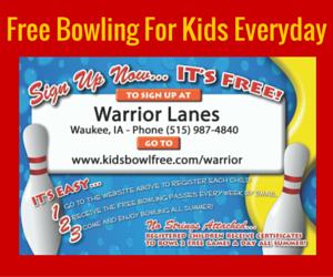 Kids Bowl Free at Warrior Lanes!