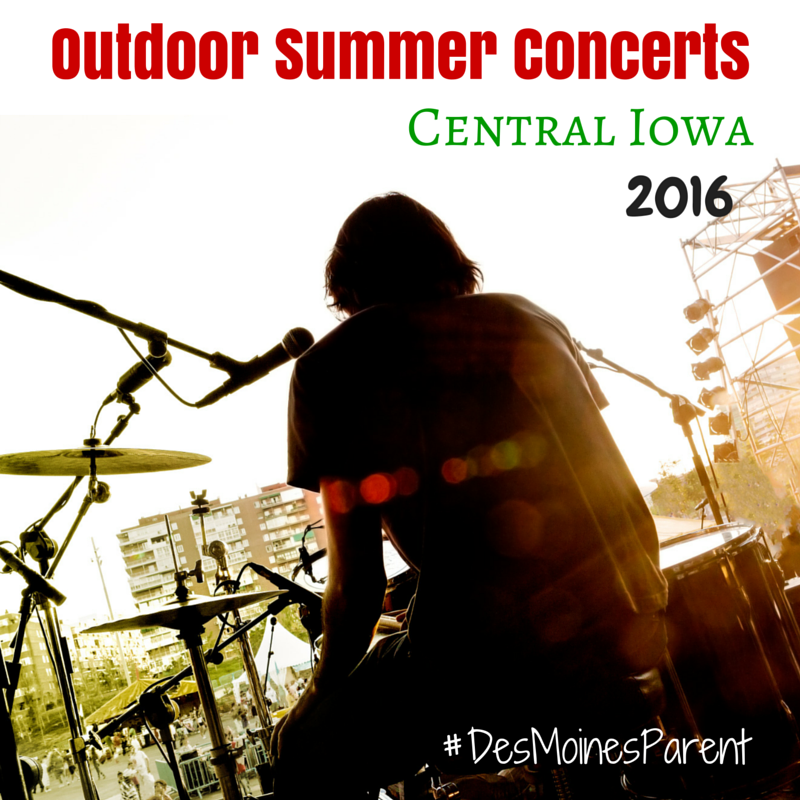Outdoor Summer Concerts 2016: Central Iowa
