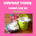 Underwear Training with Pampers Easy Ups + Giveaway!