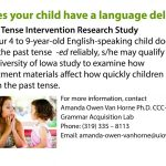 The Grammar Acquisition Lab: Developmental Language Impairment