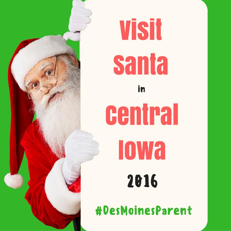 Visit Santa in Central Iowa 2016