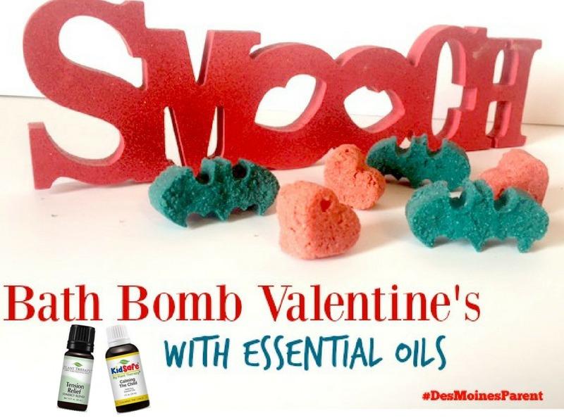 Bath Bomb Valentine's with Essential Oils