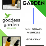 Goddess Garden: Sun Equals Wrinkles + Giveaway!
