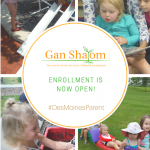 Gan Shalom Pre-School: Enrollment is Now Open!