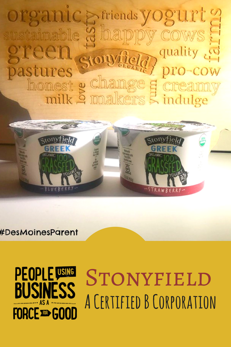 Stonyfield: A Certified B Corporation!