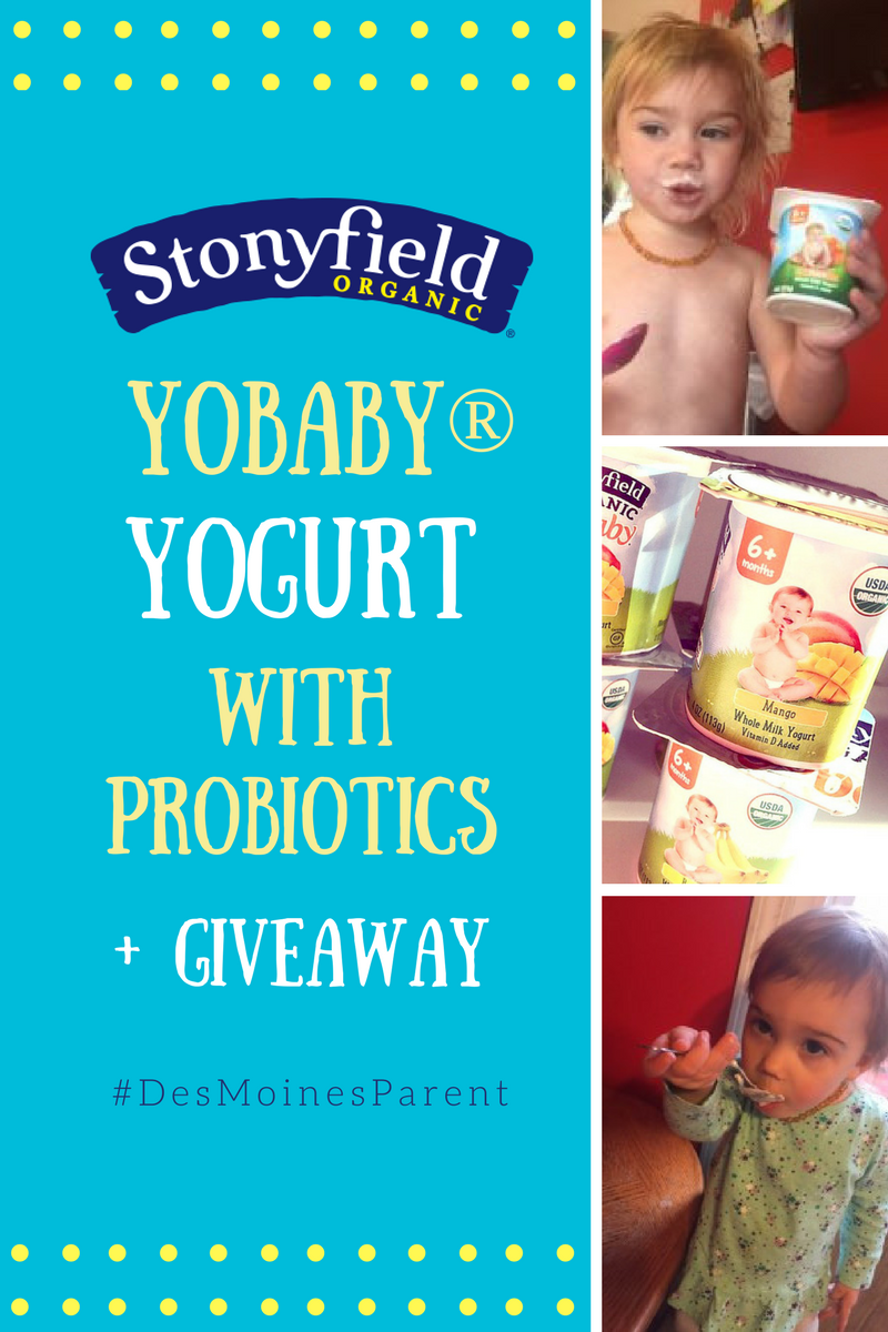 Stonyfield YoBaby® Yogurt WITH Probiotics + Giveaway!