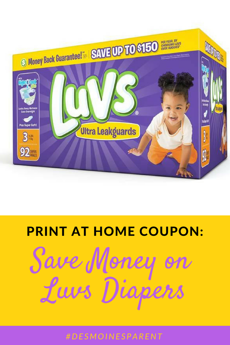 Save Money on Luvs Diapers: Print At Home Coupon