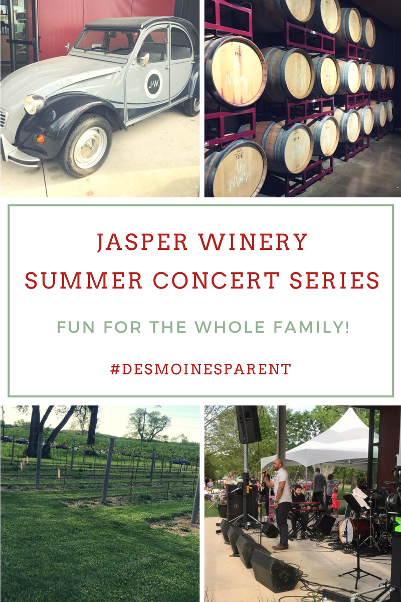 Jasper Winery Summer Concert Series: Fun For the Whole Family!