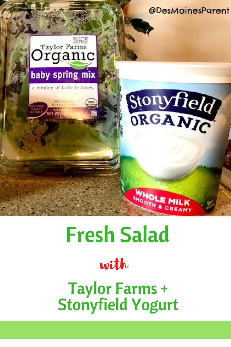 Fresh Salad with Taylor Farms + Stonyfield Yogurt
