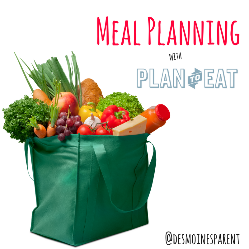 Meal Planning with Plan to Eat