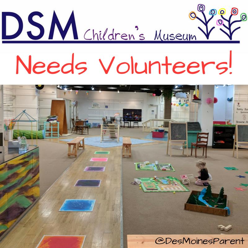 Volunteer at the Des Moines Children's Museum!