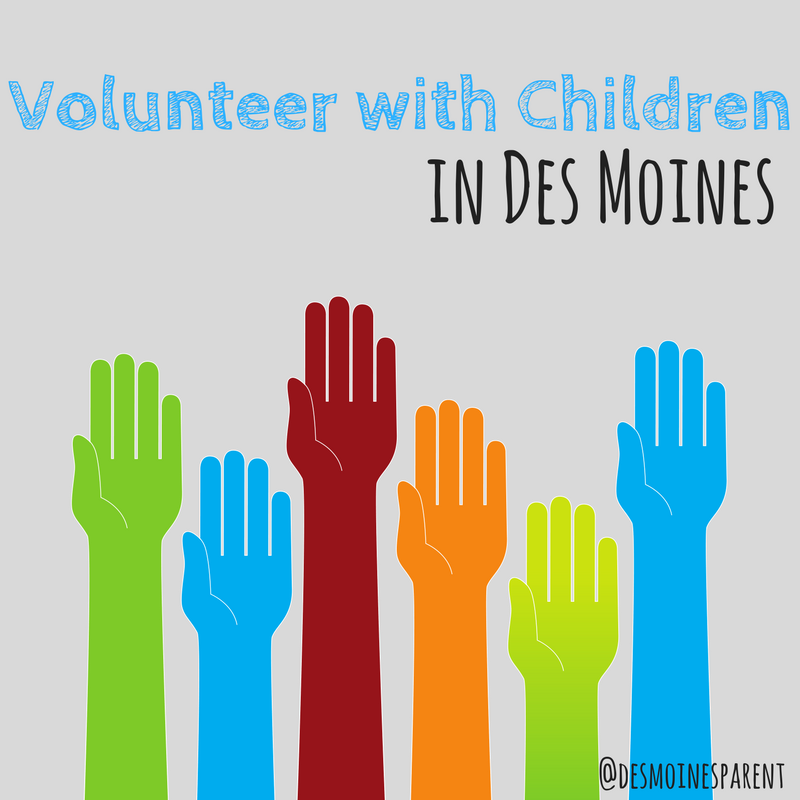 Volunteer, Children, Kids, Des Moines