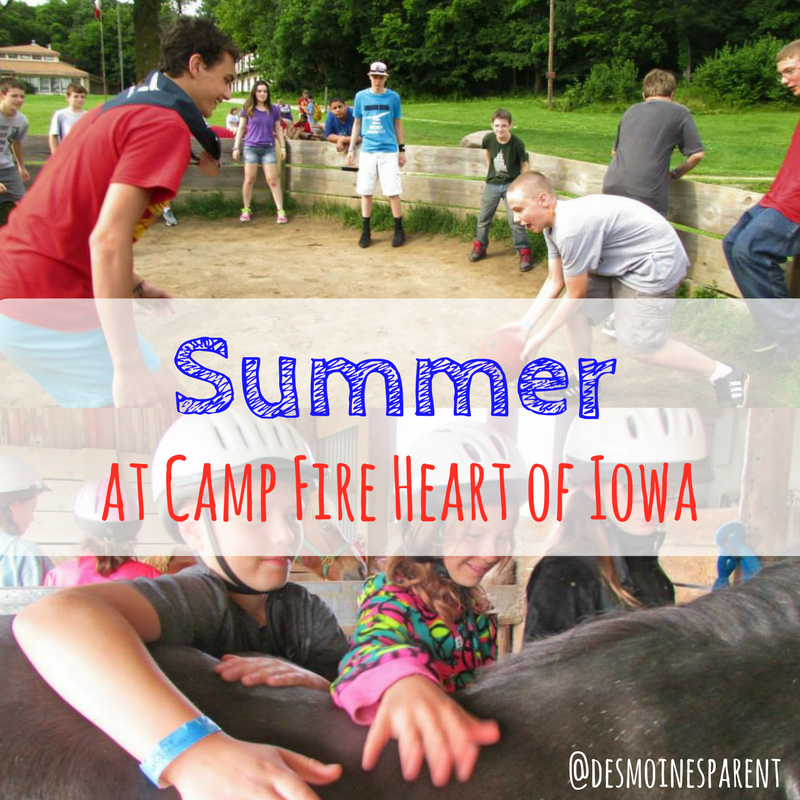 Summer at Camp Fire Heart of Iowa