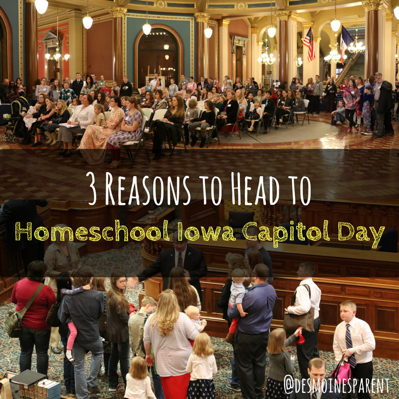 3 Reasons to Head to Homeschool Iowa Capitol Day