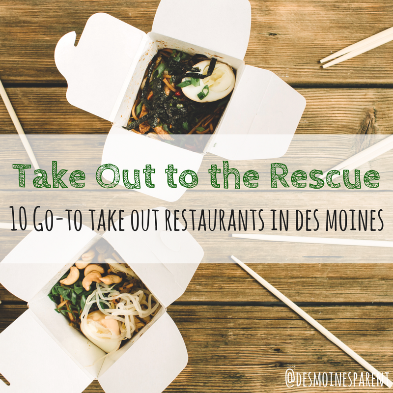 Take out, Des Moines, local, food