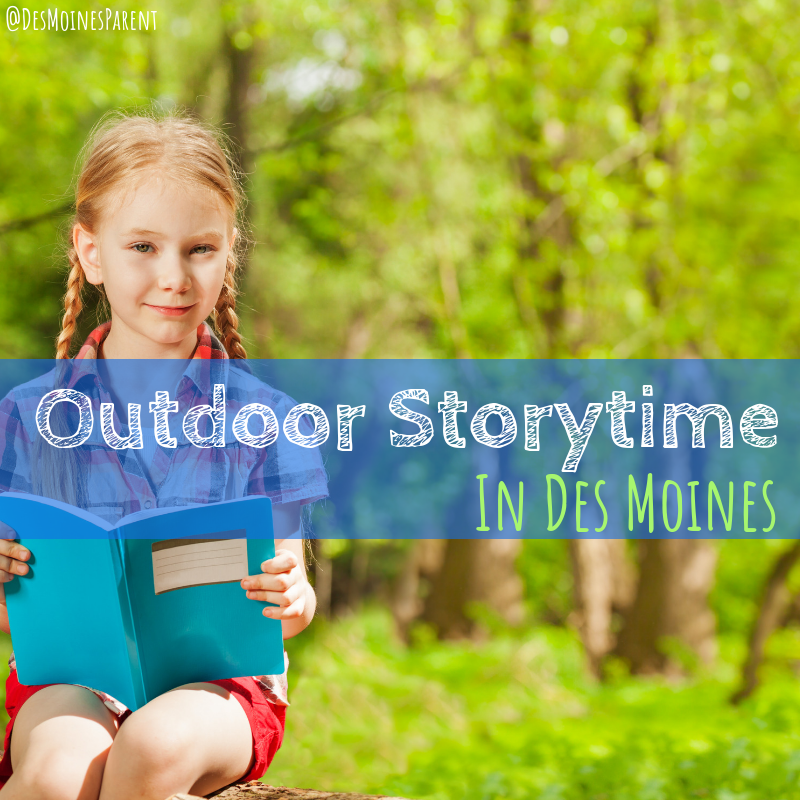 Outdoor storytime, Des Moines, Summer, reading