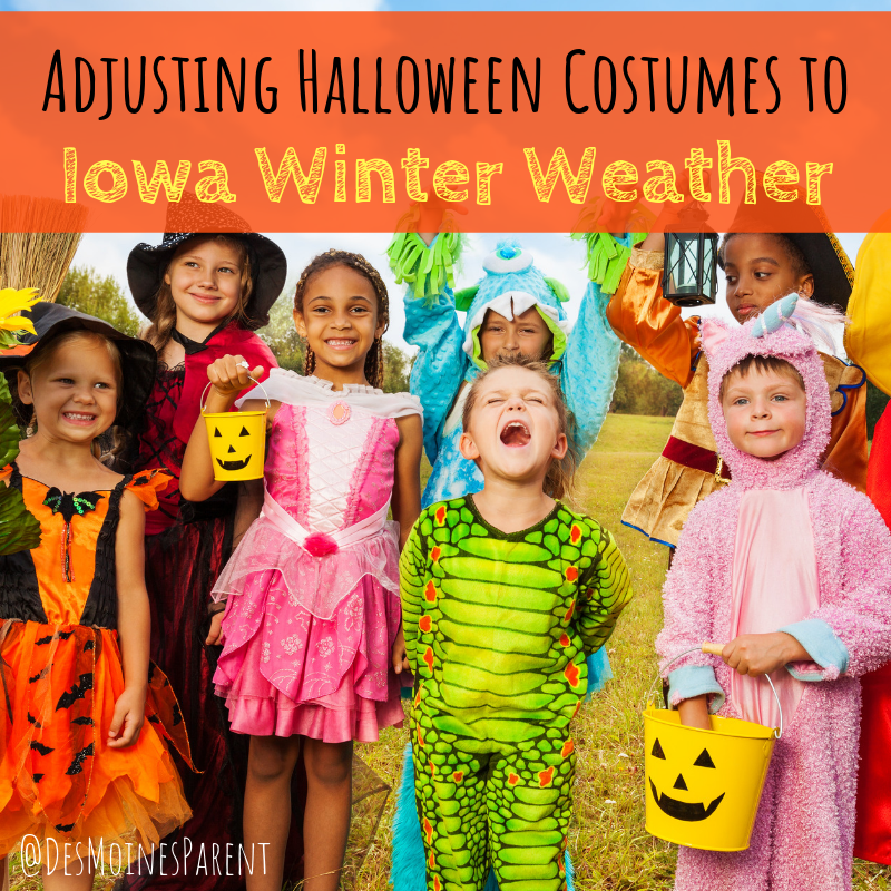 Adjusting Halloween Costumes to Iowa Winter Weather