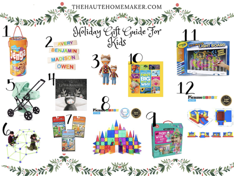Holiday gifts, children, gift guide