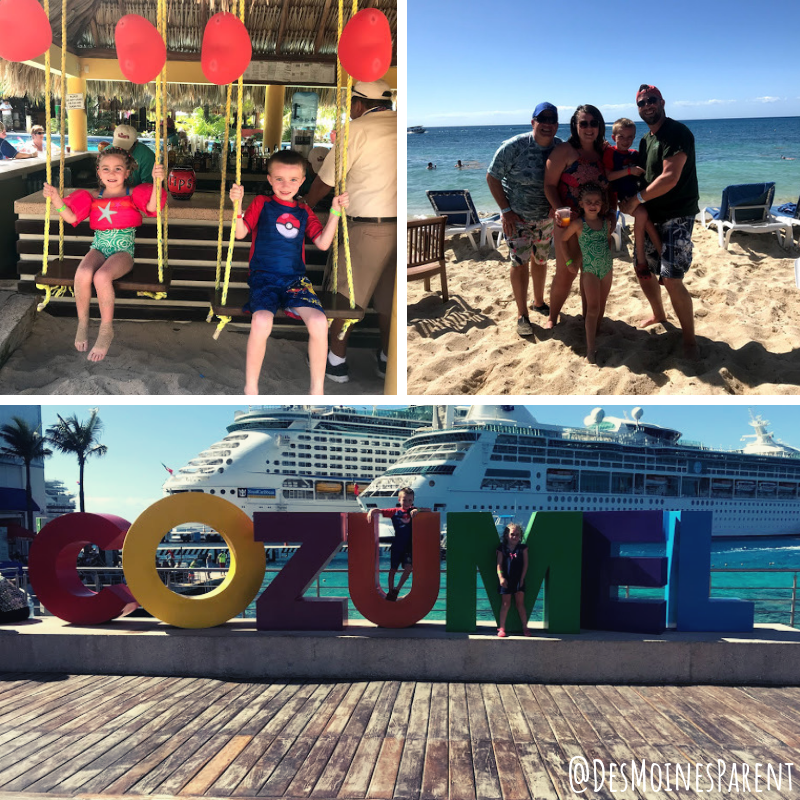 Cruise with kids, family cruise, Cozumel, Royal Caribbean