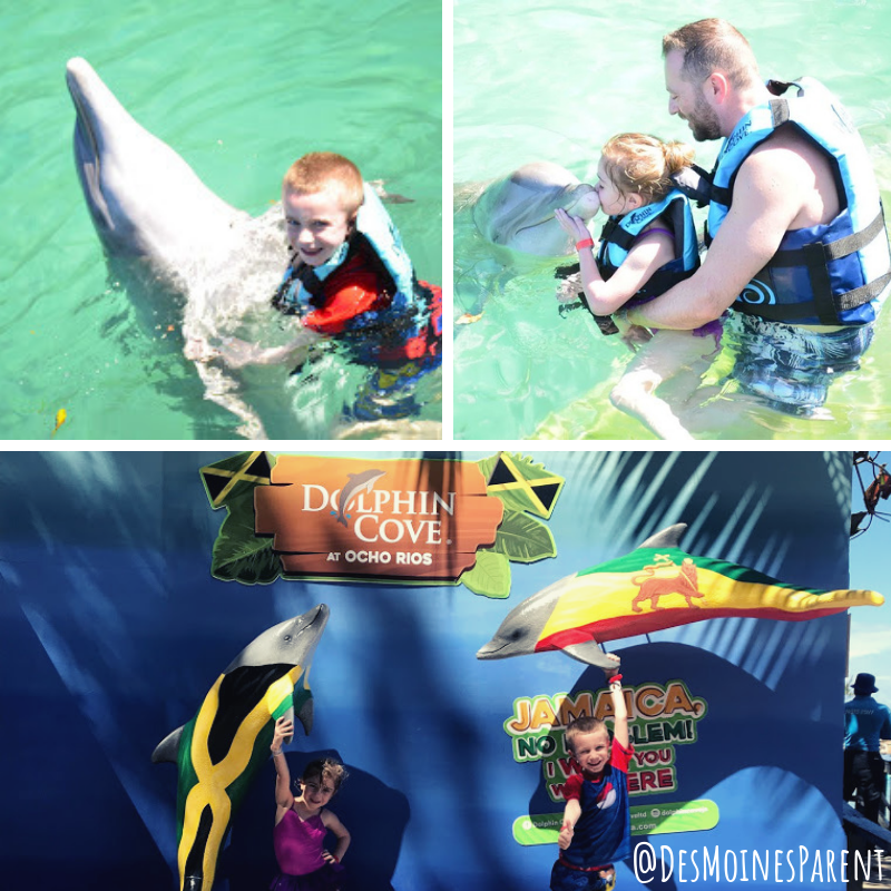Cruise with Kids, Family cruise, Royal Caribbean, Dolphin Encounter, Jamaica