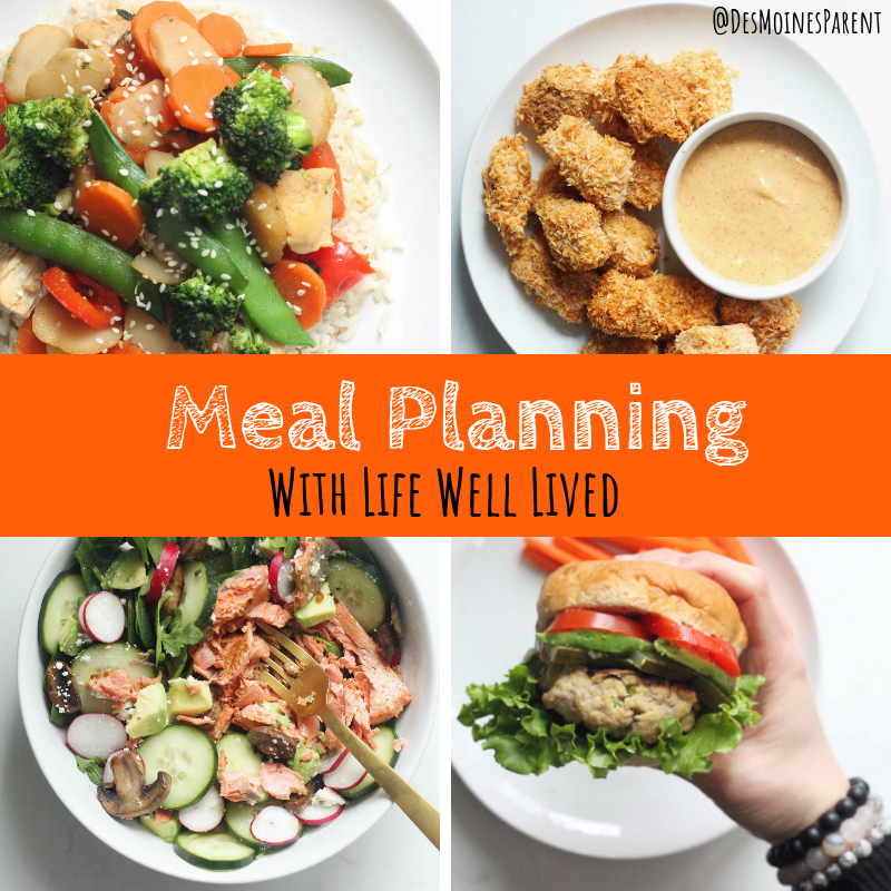 Life Well Lived, Meal Planning, 4-week challenge