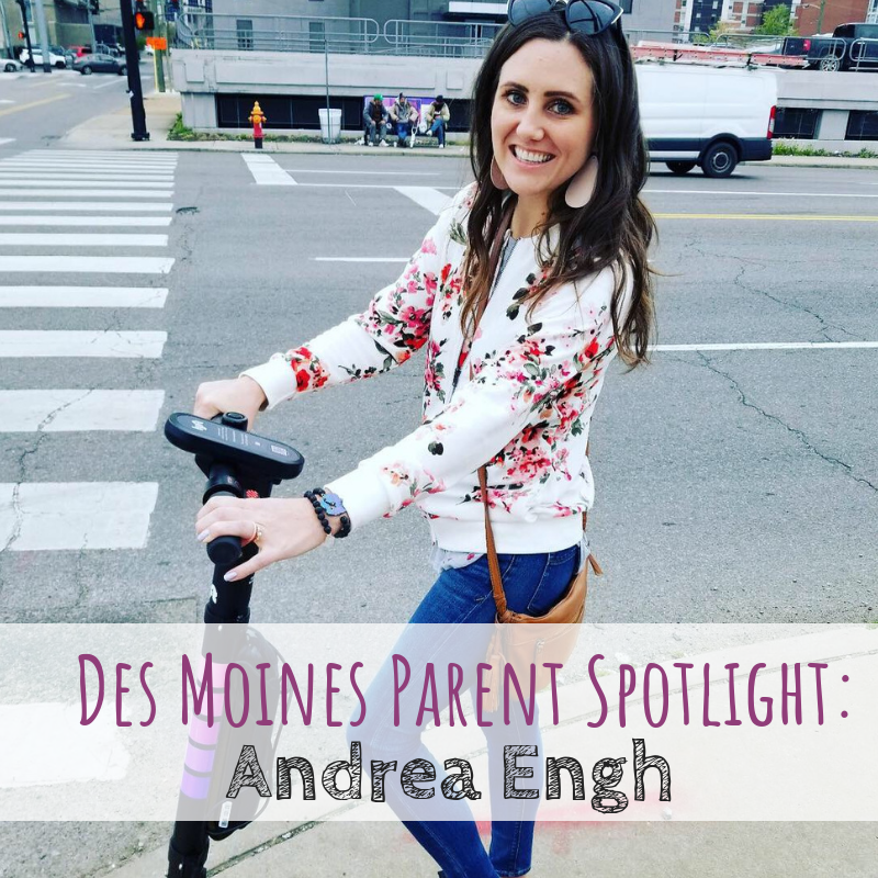 Des Moines Parent Spotlight Andrea Engh founder and owner of Lemon Drop Leather Shop in Des Moines, Iowa.