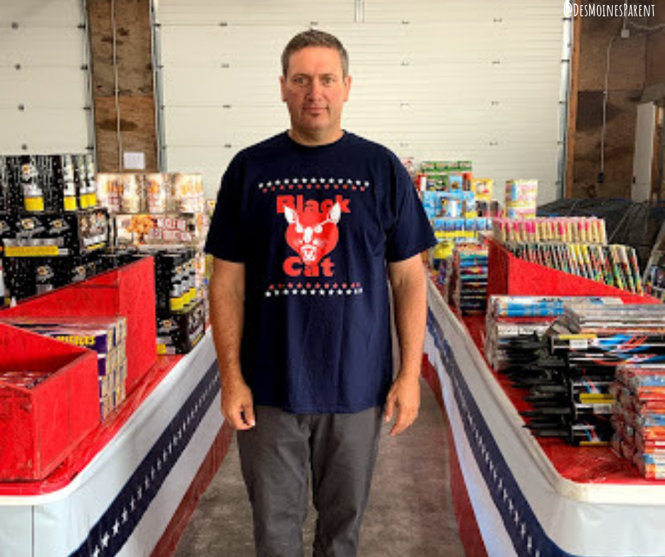 Factory Outlet Fireworks located in Winterset, Iowa is the only local fireworks store in the state of Iowa. Owner, Tony Wenck, enjoys giving back.
