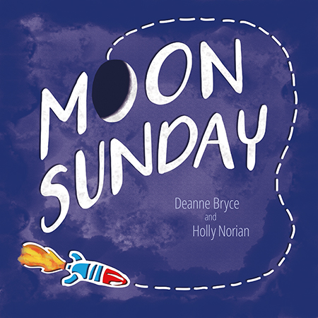 Moon Sunday Book to celebrate the 50th anniversary of the first walk on the moon. Local Iowa author and illustrator.