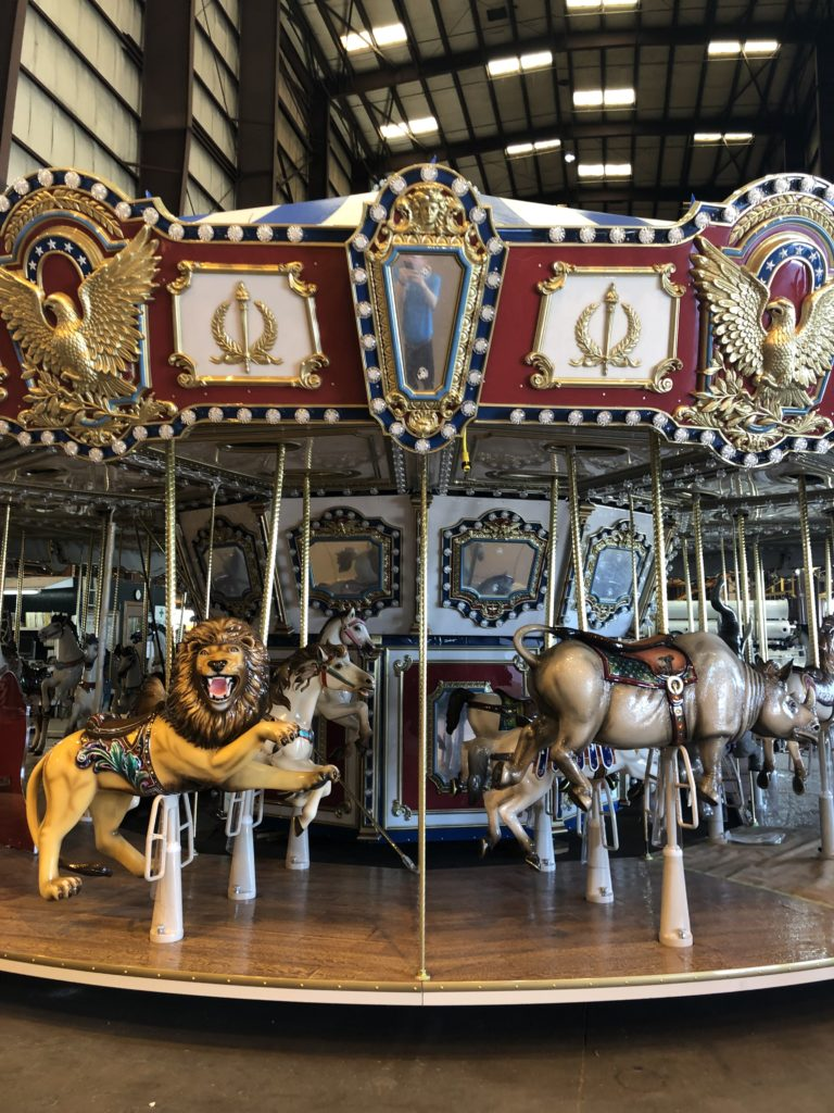 Behind the scenes look at the future St. Louis Carousel at the St. Louis Union Station Family Entertainment Complex in St. Louis, Missouri.