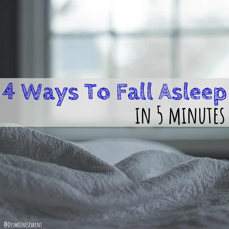 4 ways to fall asleep in 5 minutes, sleeping tips, parenting advice
